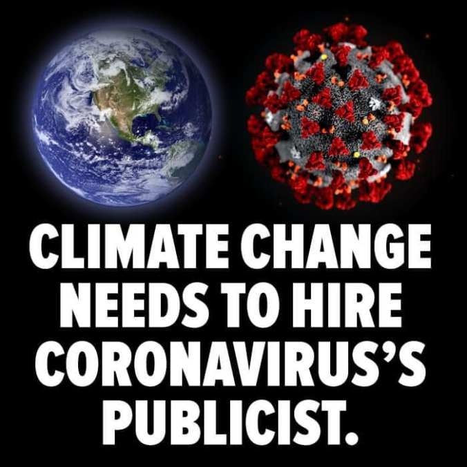 Coronavirus vs Climate change
